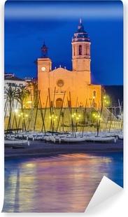 Omyvatelná fototapeta Sant Bartomeu i kostel v Sitges, Španělsko Santa Tecla