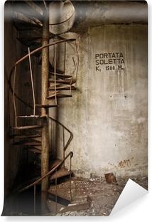 Omyvatelná fototapeta Staré železo schodiště