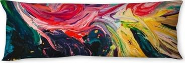 Macro gros plan de peinture à l'huile de couleur différente. acrylique coloré. concept d'art moderne. Oreiller de corps