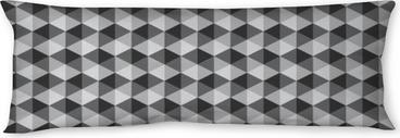 Oreiller de corps Rétro motif géométrique abstrait couleur noir et blanc ton vect