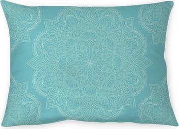 Örngott Elegant ljusblå mandala sömlös mönster design. perfekt för bakgrunder och tapeter. vektor illustration.