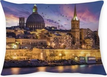 Örngott Färgglada valleta malta europa under semestern, gamla centrum av Valletta Malta