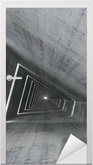 Abstrakti tyhjä betoni sisustus, 3d renderoidut tunnelin Ovitarra