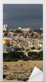 Pyhä kaupunki Jerusalemista Israelista Ovitarra
