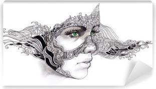 Papier peint vinyle Abstract woman face