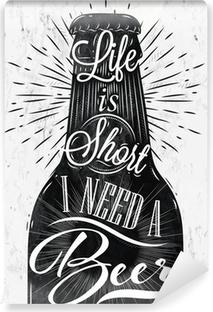 Papier peint vinyle Affiche de bière de cru