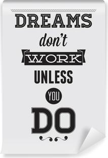 Papier peint vinyle Affiche de motivation
