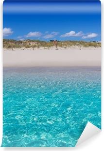Papier peint vinyle Alaior Cala Son Bou dans la plage de Minorque à Turquoise Baléares
