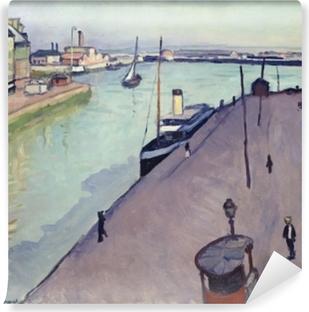 Papier peint vinyle Albert Marquet - Vue du port du Havre (Le Quai de Notre Dame)