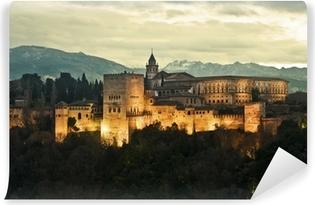 Papier peint vinyle Alhambra Palace au crépuscule