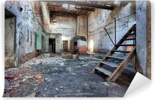 Papier peint vinyle Ancienne usine de briques abandonné et oublié