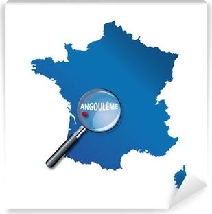 Papier peint vinyle Angoulême: Carte de France - département Charente