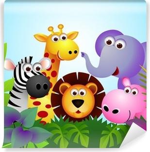 Papier peint vinyle Animal cartoon mignon dans la jungle