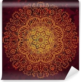 Papier peint vinyle Antiquité cru ornement d'or