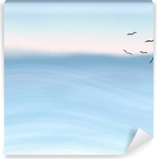 Papier peint vinyle Aquarelle mer