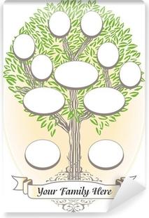 Papier peint vinyle Arbre généalogique - Généalogie et histoire de famille ...