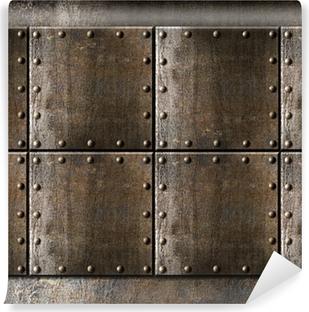 Papier peint vinyle Armure en métal de base avec rivets