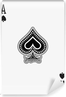 Papier peint vinyle As de pique carte à jouer
