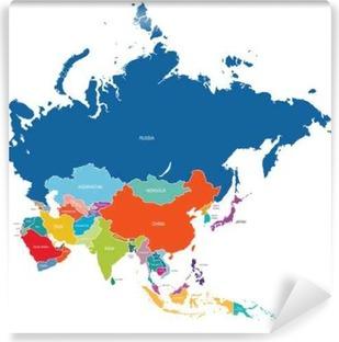 Papier peint vinyle Asie map