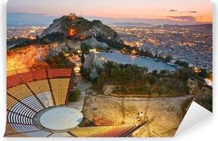 Papier peint vinyle Athènes au coucher de soleil depuis la colline Likabetus.