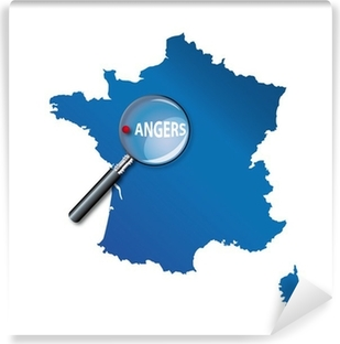 Papier peint autocollant Angers : Carte de France - département Maine et Loire