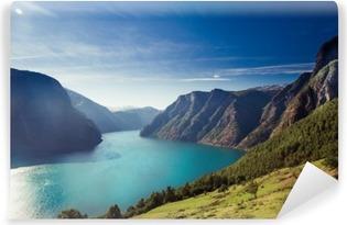 Papier peint autocollant Aurlandsfjord en Norvège