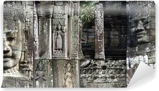 Papier peint autocollant Bayon d'Angkor sur Wate Temple, Camboya