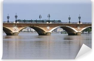 Papier Peint Autocollant Bordeaux tramway pont de pierre