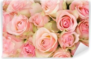 Papier Peint Autocollant Bouquet de roses roses.