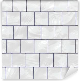 Papier Peint Autocollant Carrelage blanc brillant