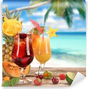 Papier Peint Autocollant Cocktails sur la plage