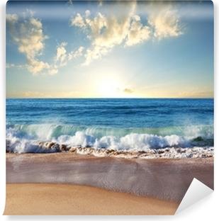 Papier Peint Autocollant Coucher de soleil à la plage