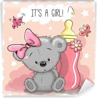 Papier Peint Autocollant Cute girl Cartoon Ours