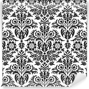 Papier Peint Autocollant Damassé Seamless Floral Pattern Background