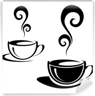 Papier Peint Autocollant Deux tasses de café