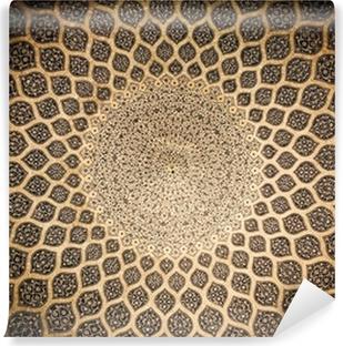 Papier peint autocollant Dôme de la mosquée, ornements orientaux de Isfahan, Iran