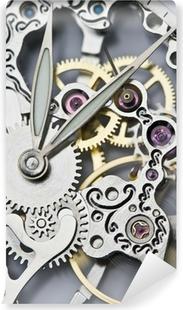 Papier Peint Autocollant Fermer vue des aiguilles de la montre et le mécanisme
