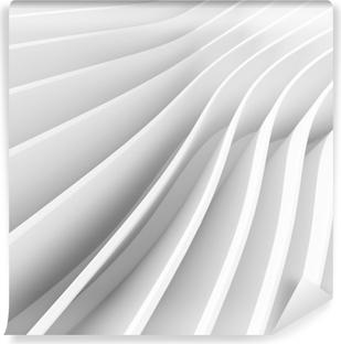 Papier peint autocollant Fond circulaire d'architecture blanche. design d'intérieur abstrait. Rendu 3D d'architecture moderne. construction de bâtiment futuriste