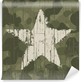 Papier Peint Autocollant Fond de camouflage militaire avec étoile. Vector, EPS10.