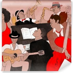Papier Peint Autocollant Groupe de jazz