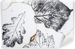 Papier peint autocollant Image artistique - empreintes de feuilles - Graphics - Monotype