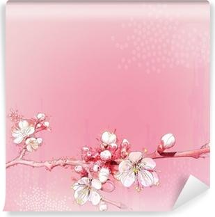Papier Peint Autocollant Japonais cerisiers en pleine floraison
