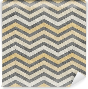 Papier Peint Autocollant Jaune et gris Zigzag tissu texturé fond
