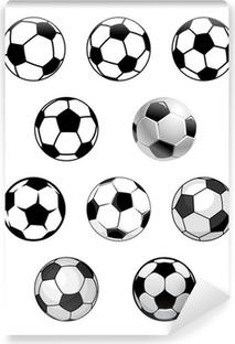 Papier Peint Autocollant Jeu de boules de soccer et de football