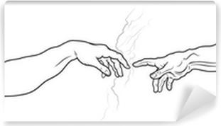 Papier Peint Autocollant La Création d'Adam. Fragment (version complète)