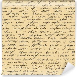 Papier Peint Autocollant La lettre de modèle. Script de fond sans soudure. Croquis d'écriture