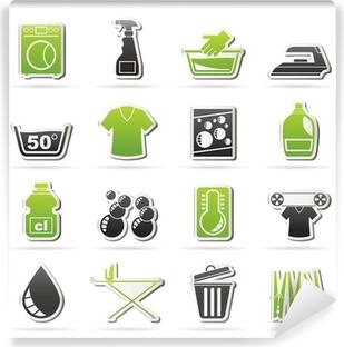 Papier Peint Autocollant Lave-linge et machine à icônes - vecteur jeu d'icônes