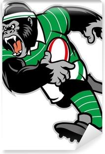 Papier Peint Autocollant Le rugby gorille mascotte