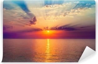 Papier Peint Autocollant Lever de soleil dans la mer