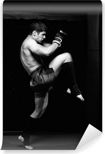Papier peint autocollant MMA - artiste martial mixte avant un combat